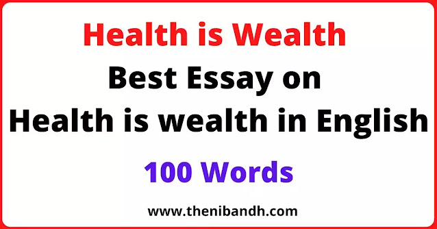 Health is wealth text image