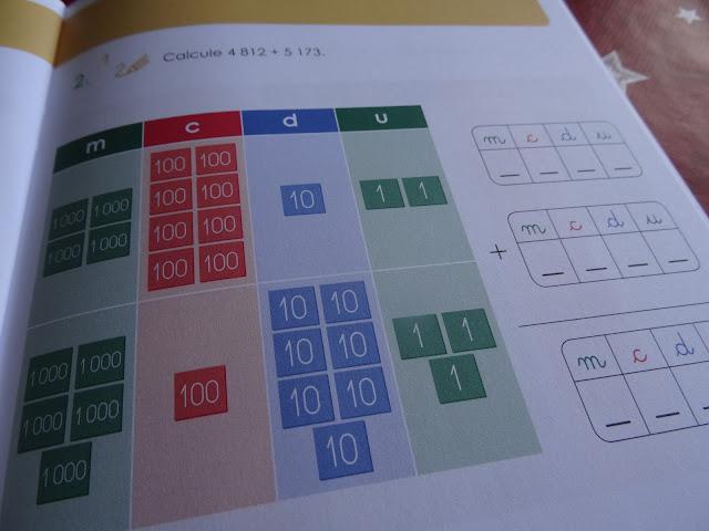 Calculer avec les timbres Montessori