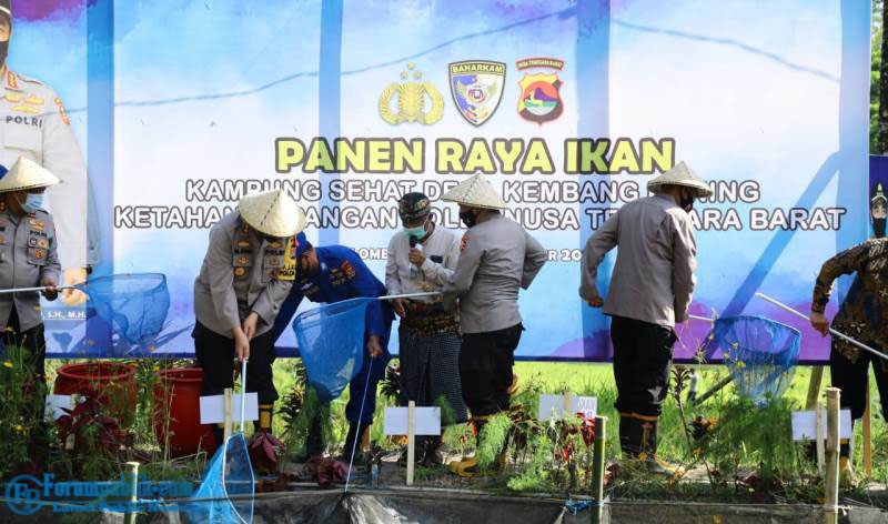 Kabaharkam Polri Apresiasi Kampung Sehat Desa Kembang Kuning di Lombok Timur NTB