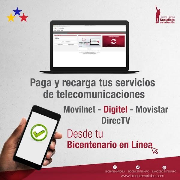 Paga y recarga tu línea móvil y Directv con los canales electrónicos del Banco Bicentenario (+límites)