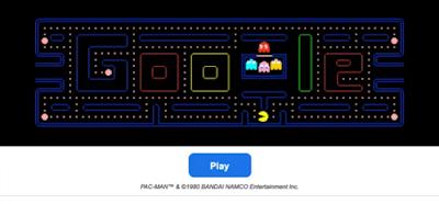 لعبة باك مان (بحث جوجل)
