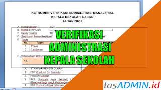 Verifikasi Adminstrasi Kepala Sekolah
