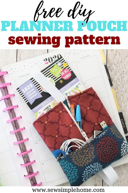 Sew up your own planner pouch to keep all those stickers, pens and sticky notes organized.