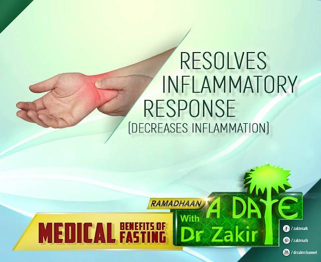 RESOLVES INFLAMMATORY RESPONSE (DECREASES INFLAMMATION)   RAMADAN 2020 by Ummat-e-Nabi.com