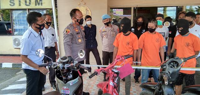 Ungkap Kasus Curanmor Lintas Kabupaten, Kapolres Sinjai Sebut Pelaku Pecandu Narkoba