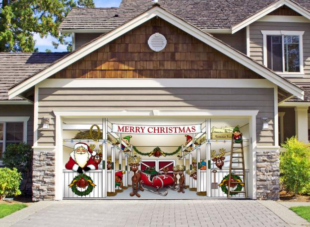 Garage Door Christmas Decorating Ideas Ideas Christmas Decorating