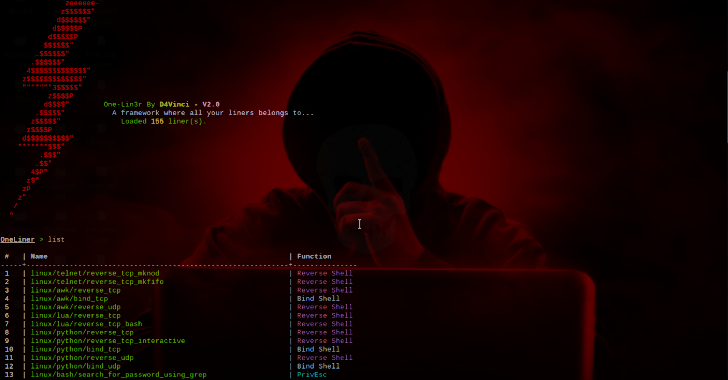 One-Lin3r : Gives You One Liners That Aids In Penetration Testing Operations