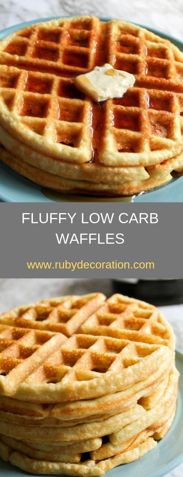 FLUFFY LOW CARB WAFFLES