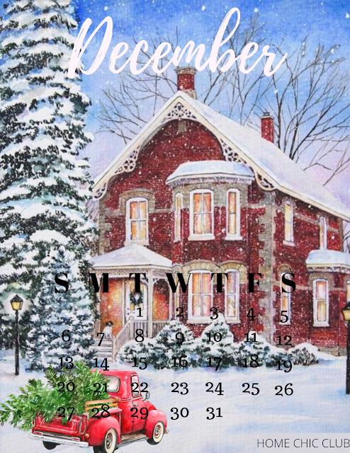 December 2020 Free Printable Calendar