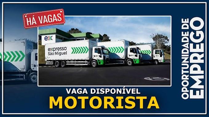 Expresso São Miguel está contratando motorista