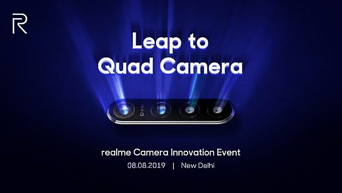 Realme 64MP Quad Camera Smartphone To B e Launched On 8th August