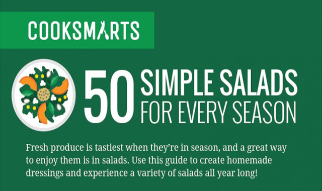 50 Creative salads You're going to love #infographic