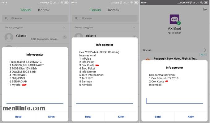 Cara Cek Sisa Kuota Paket Internet Axis Lengkap Menit Info