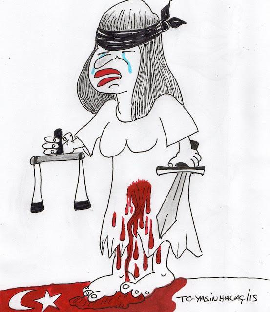kadın şiddet karikatürü