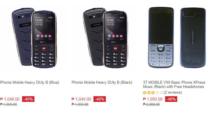 List of Cheapest Cellphones Lazada Prices P1000 to P1500 2017