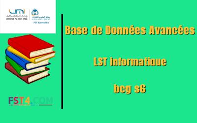 Fst errachidia Cours Base de Données Avancées mip s6 pdf
