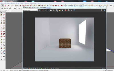 cara membuat rectangle light di vray 3.6