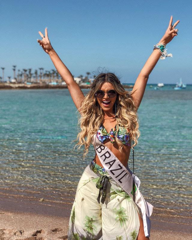 Amanda Cardoso curte praia paradisíaca no Egito. Foto: Acervo Pessoal