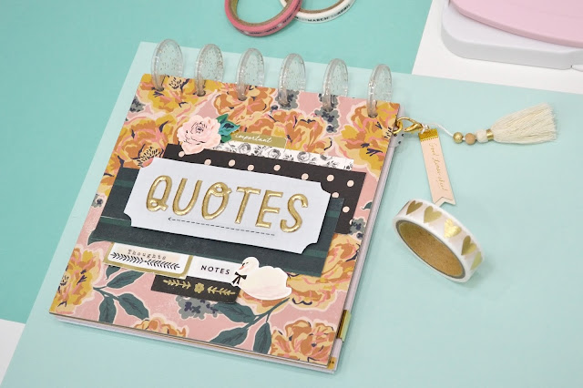 DIY Quote Book with the new Lowercase Punch Board and Icon Punches by We R Memory Keepers