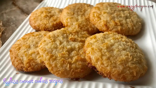 Delicious and easy to make eggless coconut cookies recipe