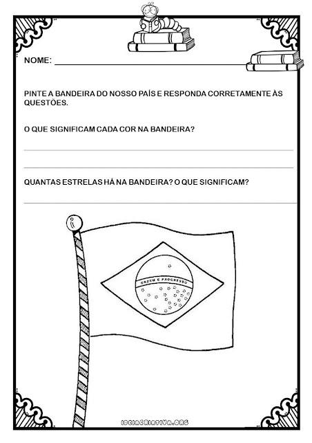 Atividades Bandeira do Brasil Semana da Pátria Educação Infantil