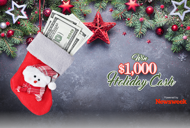 Here are some instructions about how to enter the Newsweek $1000 Holiday Cash Sweepstakes for your chance to win some really great prizes!