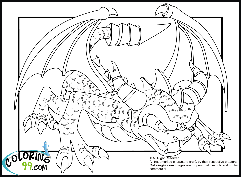 skylanders spitfire coloring coloring pages