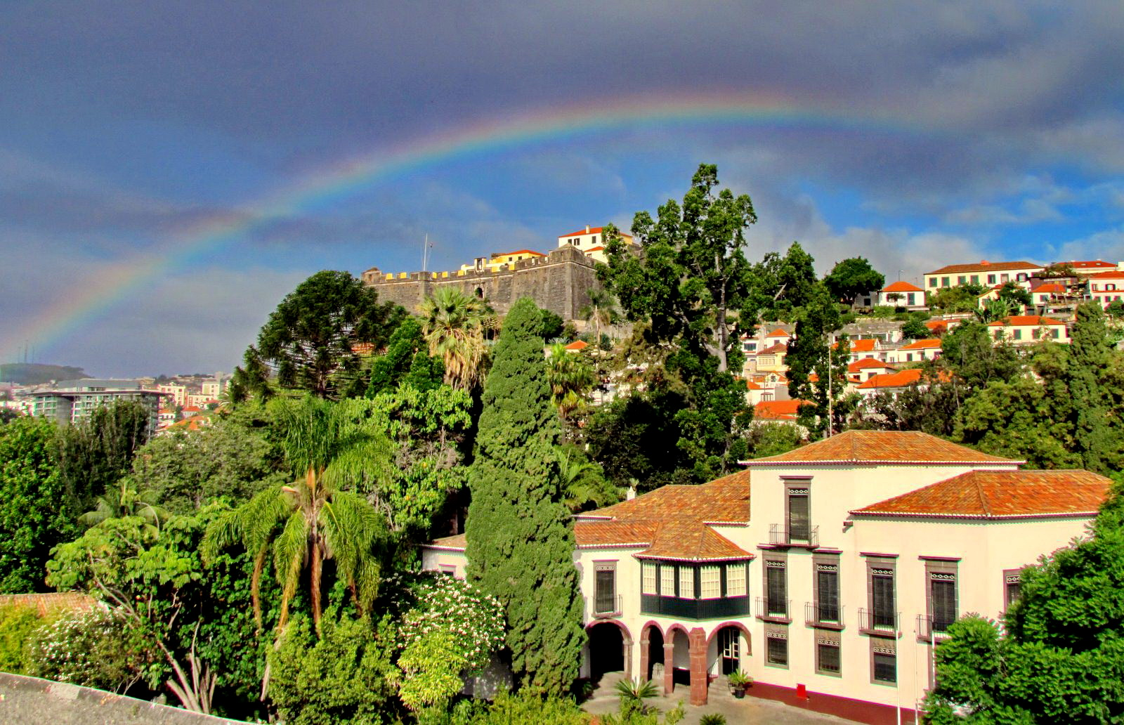 rainbow today in Funchal city