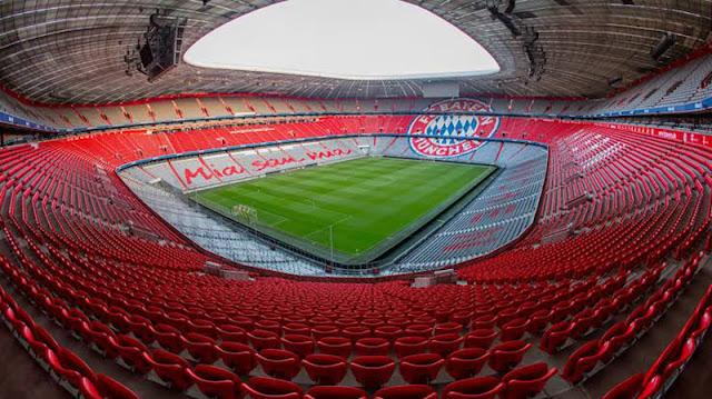 Allianz Arena preparado para receber o FC Bayern München