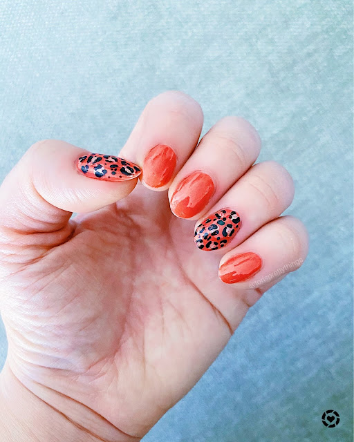 Coral Leopard Mani