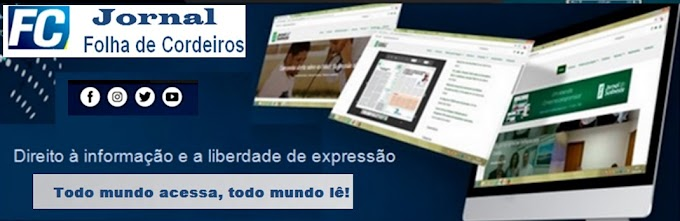 Valdivino Sousa a voz de Cordeiros com o  Jornal Folha de cordeiros