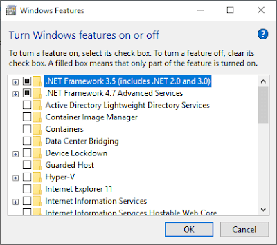 Cara Matikan Windows Features Di Windows 10