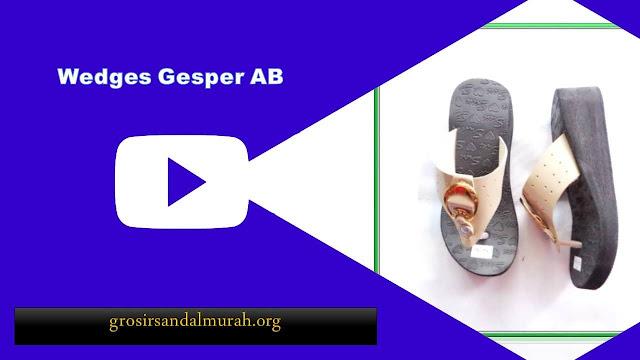 grosirsandalmurah.org - wedges - Wedges Gesper Wanita