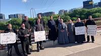 Manifestation des Amish pour George Floyd