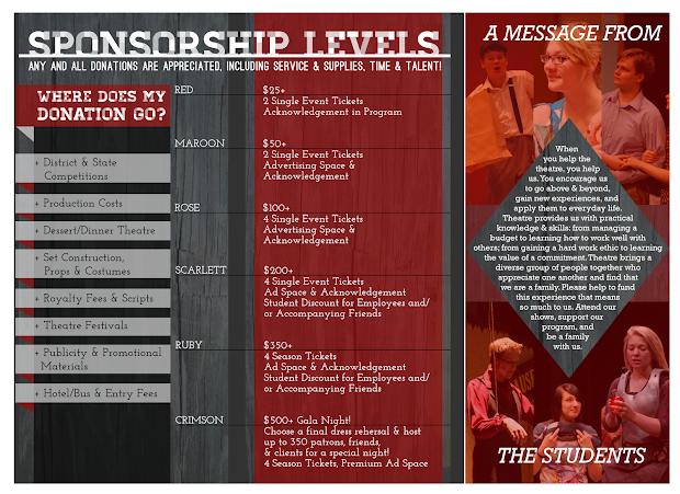 Theatre Sponsorship Brochure 2014-15 Jules Isaacs Design