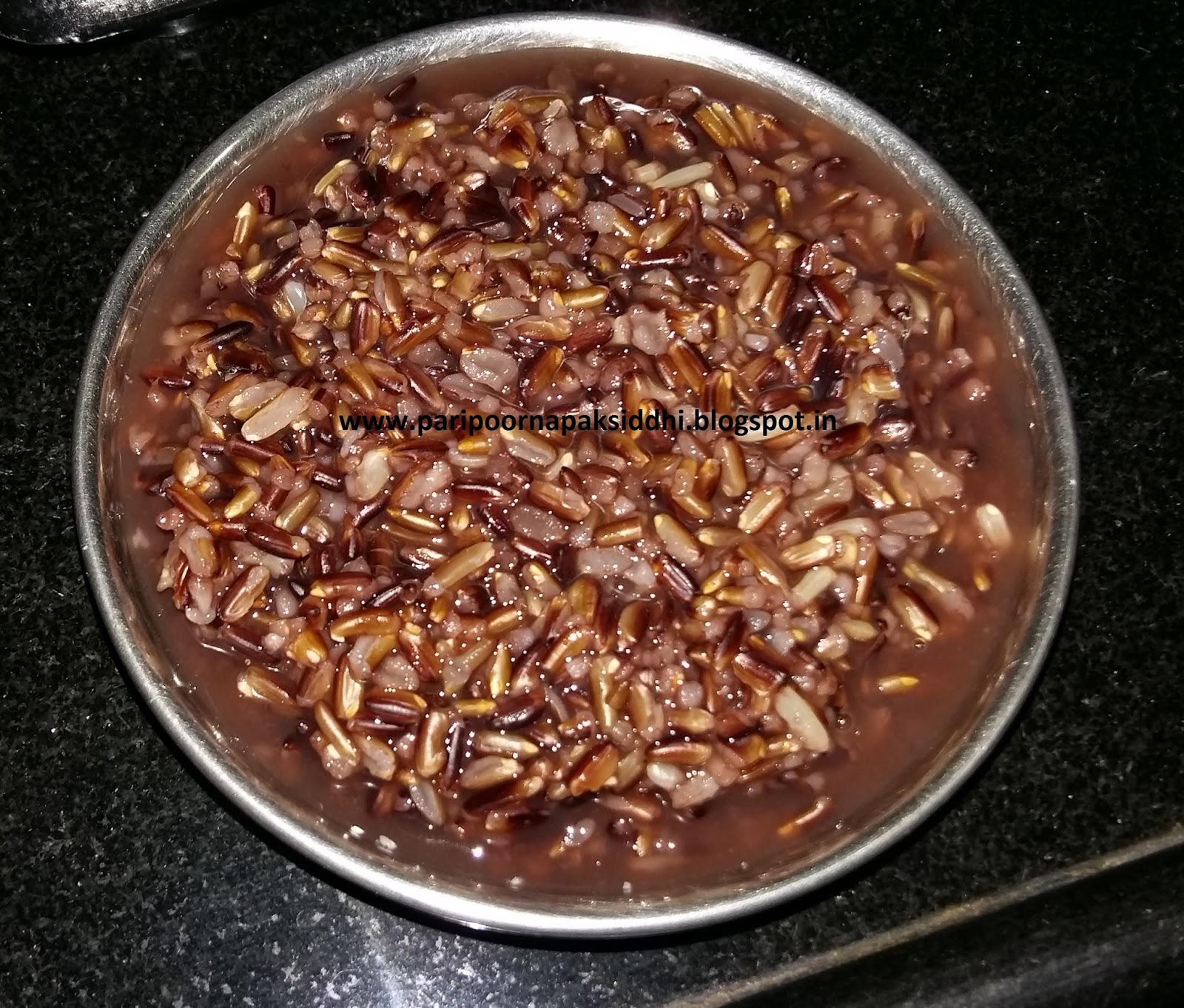 Paripoorna paksiddhi manipuri black rice kheer it takes quiet a long time to cook so make sure you give 3 4 pressure cooker whistles more than what you would usually give for cooking rice ccuart Gallery