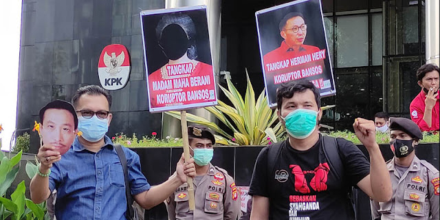 Geruduk KPK, ProDEM dan BIN Desak Tangkap 'Madam' Koruptor Bansos