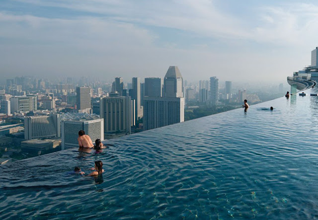 Infinity pool in Singapore at Marina Bay Sands resort