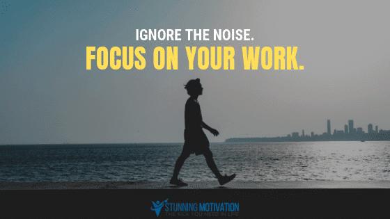 अपना ध्यान अपने कार्य पर || Focus on your work ||