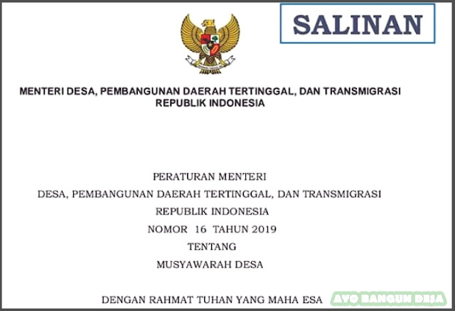 Peraturan Menteri Desa, Pembangunan Daerah Tertinggal
