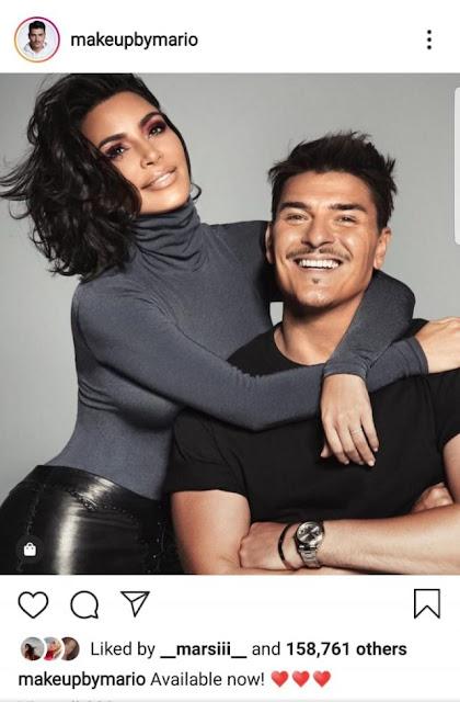 Mario Dedivanovic and Kim Kardashian promote their new line of Makeup KKW X MARIO