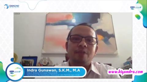 Bp Indra Gunawan pada Webinar Aqua Home Service
