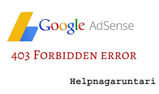 adsense 403 forbidden error