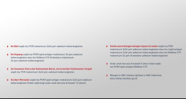 Data Perlengkapan Dokumen Perjalanan All Station Lion Group PPKM2021