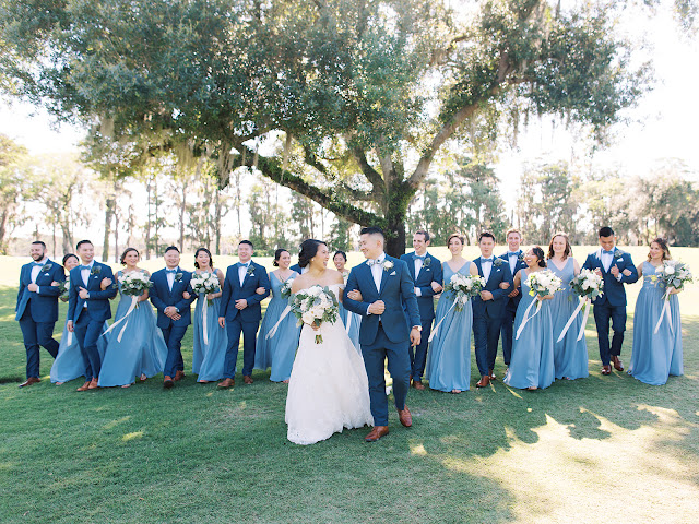 bridal party photos at isleworth country club