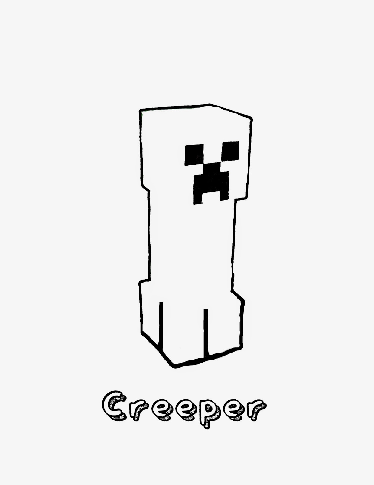 Galleons lap july 2014 for Minecraft creeper coloring page