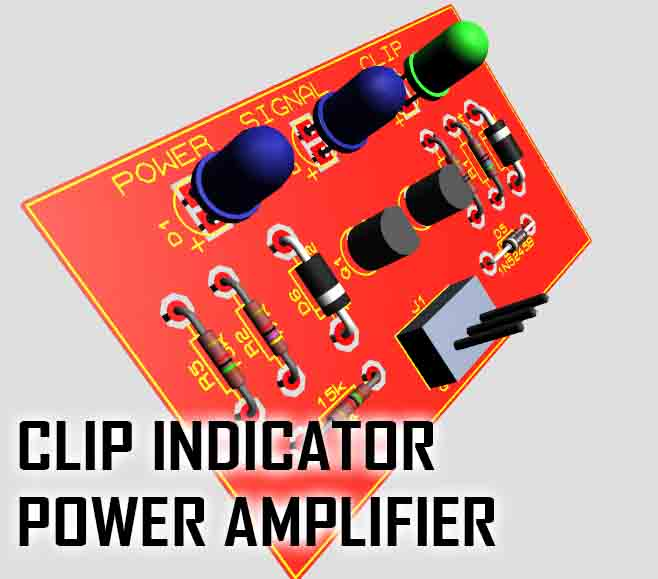 clip indicator for power amplifier electronic circuit rh elcircuit com Audio Power Amplifier Schematic Best Home Power Amplifiers