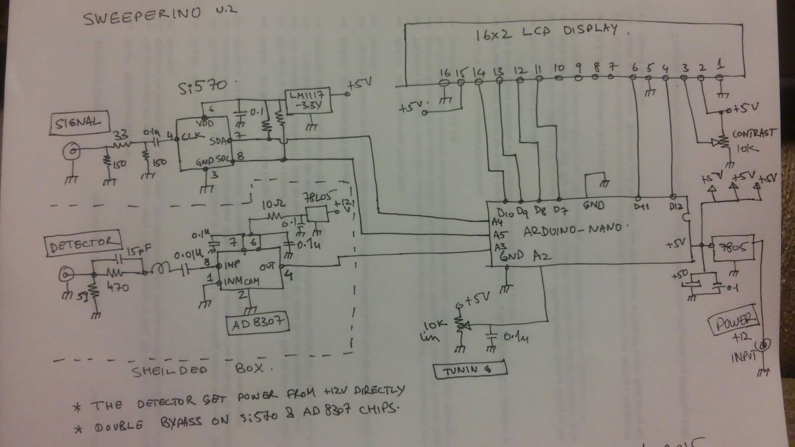 Vu2eses Radio Experiments Sweeperino Apc 500 Wiring Diagram Circuit Description