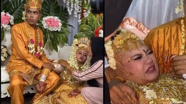 Viral Video Pengantin Wanita Kesurupan saat Resepsi Pernikahan, Keluarga Sebut Syarat Tradisi Kurang